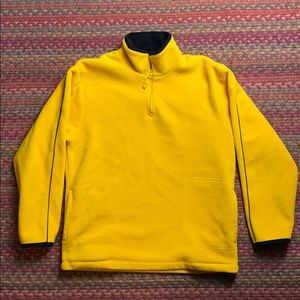 VINTAGE YELLOW FLEECE ZIP UP PULLOVER
